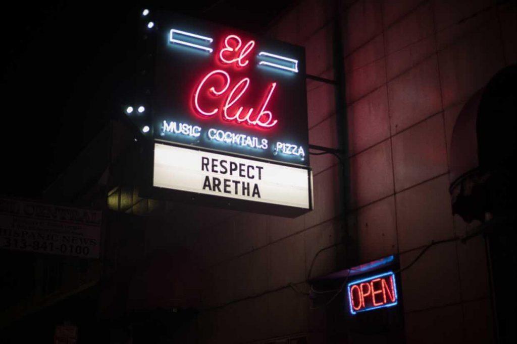 El Club Detroit - Sign - Music, Cocktails, Pizza